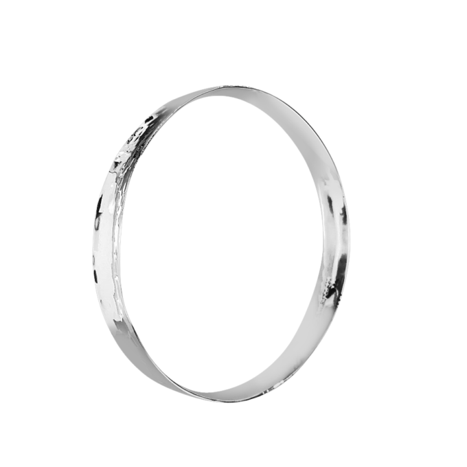 concave hammered bangle