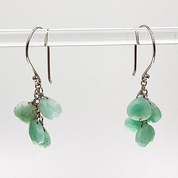 amazonite earrings by alicia van fleteren