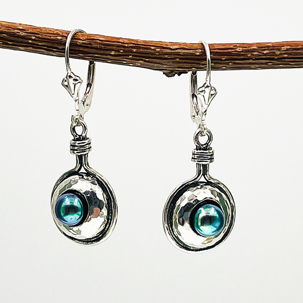 dyed pearl earrings
