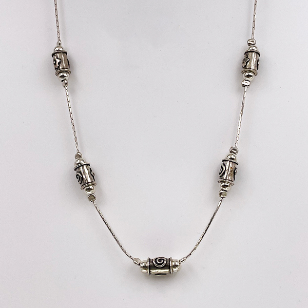 barrell chain necklace